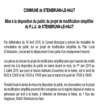 article alsace modification simpl du PLU